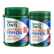 Nature's Own Odourless Fish Oil 1500mg 600 Capsules