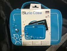 """Kurio Case KD Interactive Blue Travel Bag for 7"""" Tablet 2 Accessory Pockets"""