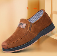 2021  Men's Lightweight Canvas Slip On Loafer Shoes Moccasins Walking Shoes