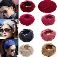 Womens Winter Twisted Knitted Headband Hair Band NEW 7 Colours
