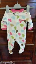 Carters Girls One Piece Sleeper Pajamas 3 Month Baby Cute Hearts Fleece New