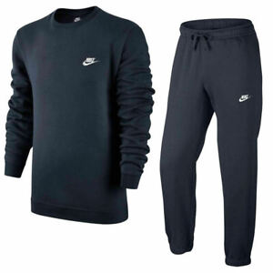 Nike Club Crew neck Mens Full Tracksuit Top Joggers Jumper Bottoms Sweatshirt