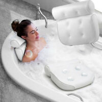 3D Mesh Spa Bath Pillow with Suction Cup Neck Back Support Spa Pillow Home Tub