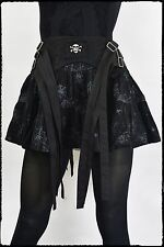 Queen Of Darkness Gothic Black Spiderweb Mini Skirt -- Alternative Rock Punk