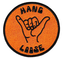 "Vintage Style ""Hang Loose"" Morale Surf Board Hawaiian Shirt Patch Badge 8cm"
