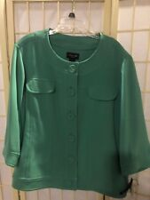 Women's NEW size 3x Focus 2000 Woman Green Detailed Jacket