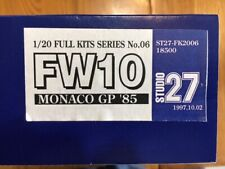 Studio 27  1/20  Williams FW10 Monaco GP '85  ( FK2006 )  RARE !!!