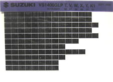 Suzuki VS1400 GLP Intruder 96 97 98 99 00 01 Parts Catalog Microfiche s467