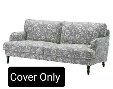 "Ikea Stocksund Cover Slipcover For Sofa Hovsten Gray White 78 3/8"" Wide New"