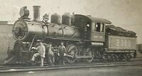 "ORIGINAL "" GRAND TRUNK RAILROAD ""  STEAM LOCOMOTIVE #2323 CABINET PHOTO c1890's"