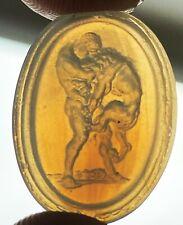 Antique Intaglio Carved Glass Seal Gem - #14