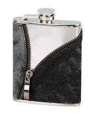 Flachmann, Taschenflasche Jeansoptik mit Reißverschluß 6oz/180 ml Nr. 725639