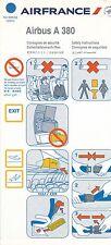 AIR FRANCE SAFETY CARD A380