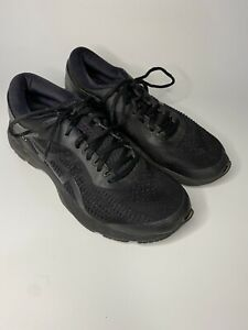 Mens Asics Gel Kayano 25 Size 8.5 All Black Trainer Sneakers