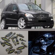 20×White LED Interior Light Package Kit Error Free for Benz MLClass W164 05-11