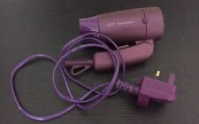 ghd Travel Hairdryer Purple Folding Handle Preowned Good Condition (PW)(Pb)