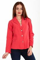 Ladies Cotton Jacket White Womens Diamante Red Blazer Summer Evening Sizes 12-20