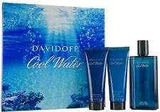 COOL WATER by Davidoff 3 PCS GIFT SET 4.2 oz / 125 ML EDT Spray MEN NEW IN BOX