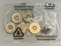 2019 Australian National Police Remembrance Day $2 RAM Coin Bag (5 Coins)