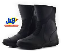 J&S SUPER TOUR MOTORCYCLE MOTORBIKE BOOTS TOURING SPORTS BLACK ALL SIZES J&S