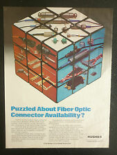 3/1983 PUB HUGHES AIRCRAFT CONNECTING DEVICES FIBER OPTIC ORIGINAL AD
