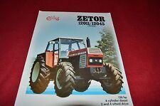 Zetor 12045 12011 Chystal Series Tractor Dealer's Brochure LCOH