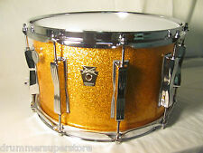"Ludwig Classic Maple Snare Drum Gold Sparkle Mach Lugs 8"" x 14"""