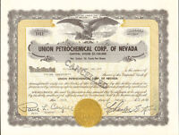 Union Petrochemical Corp. of Nevada > oil stock certificate share scripophily