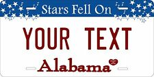 Alabama 2002 License Plates Tag Personalized Auto Car Custom VEHICLE OR MOPED