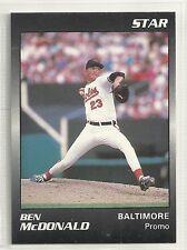 Ben McDonald 1989 Star Company Baltimore Orioles Black  Promo Card