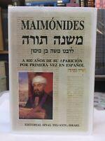 MAIMONIDES Mishne Tora Libro Torah Book Spanish & Hebrew RAMBAM Española &Hebre