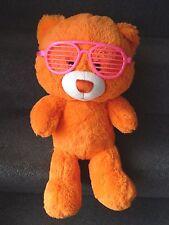 "BUILD A BEAR WORKSHOP BIG HEAD ORANGE COLOR POPZ PIZAZZ with Glasses 18""   !"