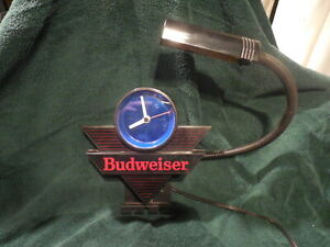 Budweiser cash register clock and light