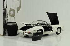 1957 mercedes-benz 300 SL Roadster w198 + SoftTop Weiss 1:18 Minichamps