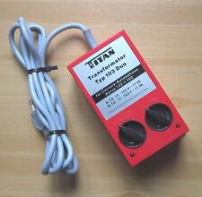 TITAN Typ 103 Duo Trafo Carrera Rennbahnen 132+160 Transformator Transformer (3)