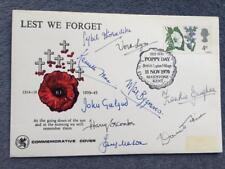 Poppy día 1970 Firmado James Mason Kenneth Moore Vera Lynn John Gielgud Secombe