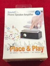 Digital Innovations NEW SoundDR Phone Speaker Amplifier Just Place Play Wireless
