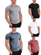 Mens Classic Gym Fitness Breathable T-shirt Activewear Workout Solid T-shirt