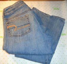 $64 American Eagle womens destroyed jeans medium wash size 10 bootcut pants