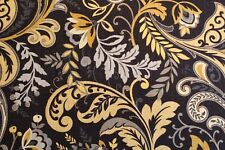 """""""Findlay"""" by Mill Creek a printed linen-blend decorator fabric in """"Night"""""""