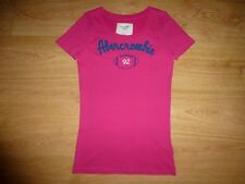 Women Abercrombie & Fitch Pink Short Sleeve Cotton Jersey T–Shirt Top XS Label M