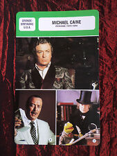 MICHAEL CAINE- MOVIE STAR - FILM TRADE CARD - FRENCH