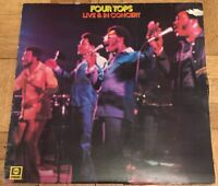 Four Tops Live In Concert LP Record Vinyl ABCL5062 1974 ABC Records