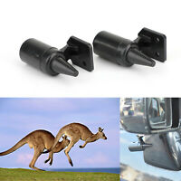 2 X Ultrasonic Car Deer Animal Alert Warning Whistles Safety Sound Alarm Black