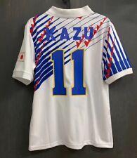 VINTAGE JAPAN NATIONAL TEAM RETRO 93-95 AWAY WHITE SHIRT JERSEY KAZU