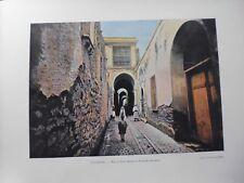 TUNISIE:Gravure 19°in folio couleur/ Ruine du palais Attarin à Tunis