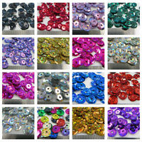 "7mm ROUND CUPPED HOLOGRAPHIC SEQUINS  ""19 COLOURS"" SEWING CARD CRAFTS CONFETTI"