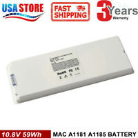 "Battery Charger For Apple Macbook 13"" 13.3 Inch A1185 A1181 MA561 MA566 5600mAh"