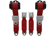 1978-82 Corvette Seat Belts, Replacement Seatbelts, RED