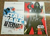 Star Wars Dark Disciple Poster SIGNED by Author. 2 Sided Aftermath Novel Book